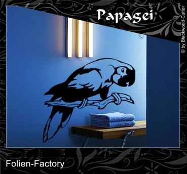 Folien factory shop - Wandtattoo papagei ...